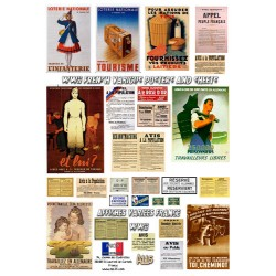 WWII French various posters and sheets