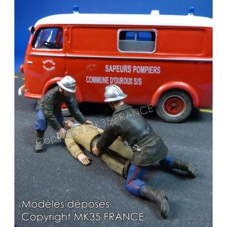 """Sapeurs pompiers """"Secours au blessé"""""""
