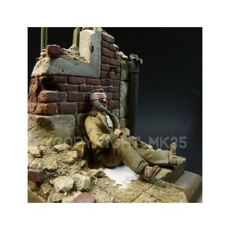 GI blessé - Normandie juin 1944