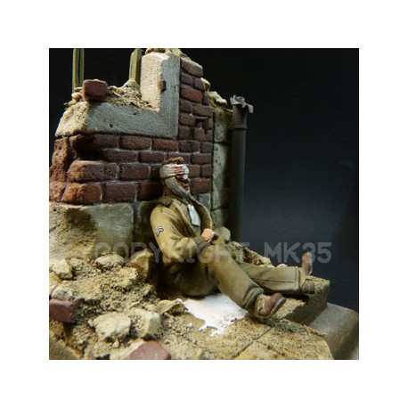 Wounded GI - Normandy June 1944