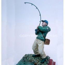 Benjamin à la pêche