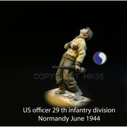 US Officer of the 29th Infantry Division wounded