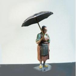 Jeanne sous la pluie