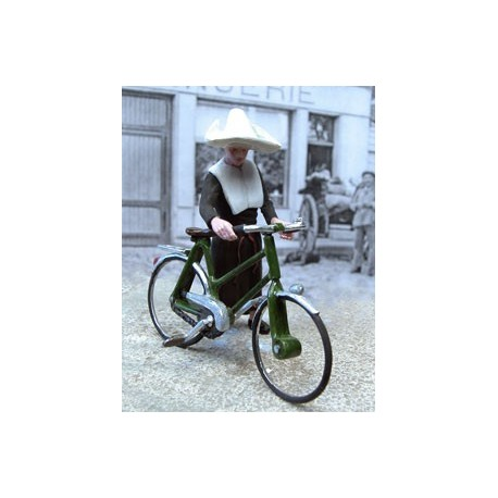 Nun and her bicycle