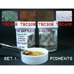 Lot 4 pots pigments