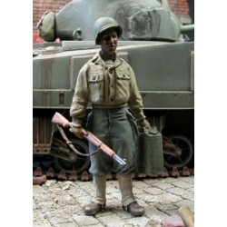 US soldier Black carrying a jerrycan