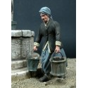 Grandma carrying 2 buckets
