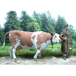 """French prisoner and his cow """"Janette"""""""