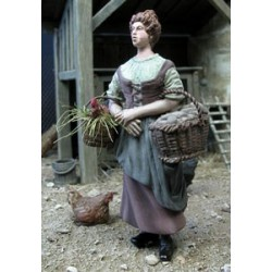 Woman farmer and her baskets
