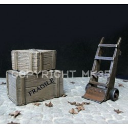 Transport trolley + 2 boxes