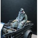 WWII German soldier winter dress seated