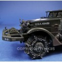Front wheels equipped of chains for Atlas or Eaglemoss Half-Track