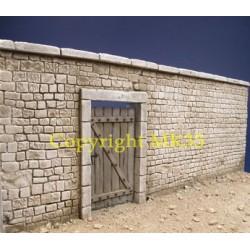 Normandy stone yard wall