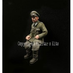 German officer seated