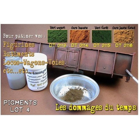 Lot de 4 pots de pigments