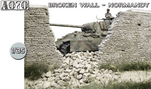 A070 Broken wall Normandy no.1