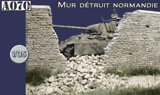 A070 Mur détruit Normandie