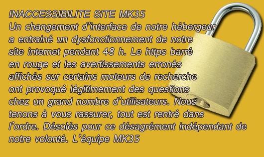 Inaccessibilité site MK35