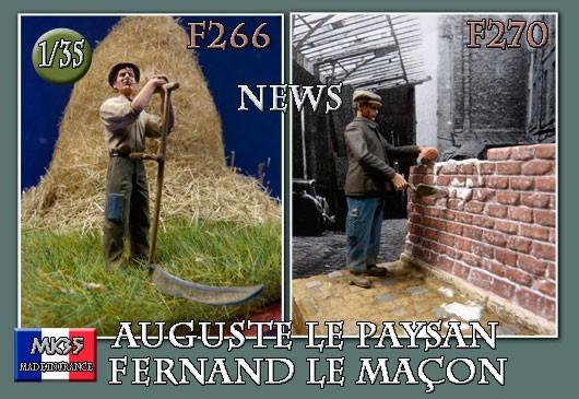 F266 Auguste le paysan et F270 Fernand le maçon