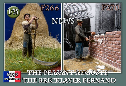 F266 The peasant Auguste and F270 The bricklayer Fernand